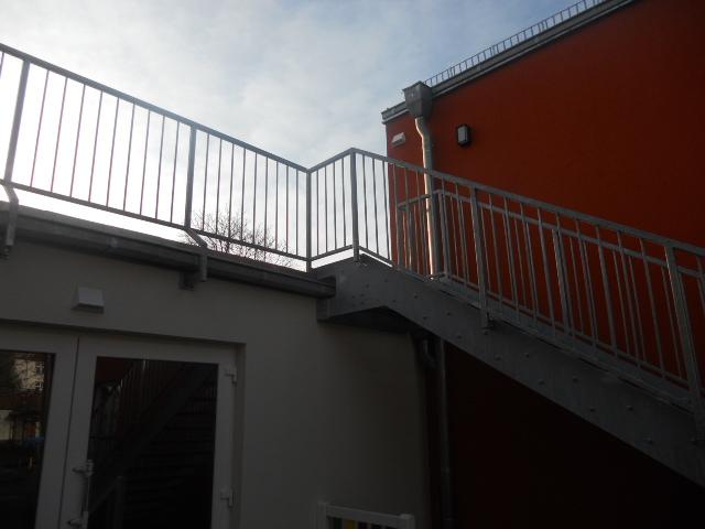 Treppe aus Stahl